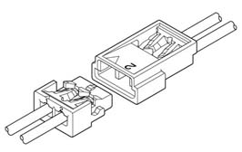 Schematic photo of ACH connector (W to W)