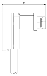 Schematic photo of FAH connector (Screw Lock Type)