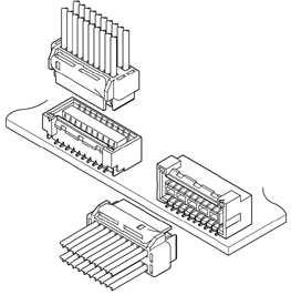 Schematic photo of GHD Connector (Gold-plated product)