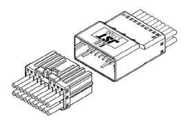 Schematic photo of JFA connector J1000 Series (W to W)