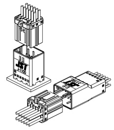 Schematic photo of JFA Connector J1000 Series (W to B)