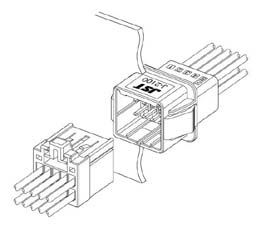 Schematic photo of JFA Connector J2000 Series (W to W)