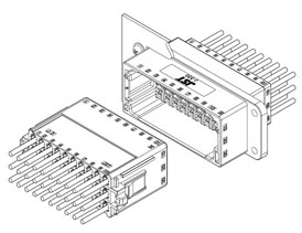 Schematic photo of JFA Connector J300 series    5.4mm pitch