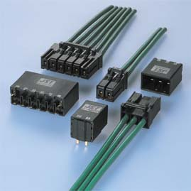 Close up image of JFA Connector J4000 Series (W to B 6.0mm pitch)