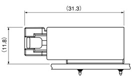 Schematic photo of JFA Connector J4000 Series (W to B 6.35mm pitch)