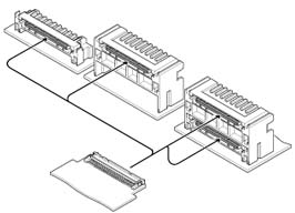 Schematic photo of RHM Connector