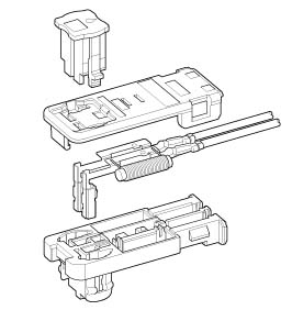 Schematic photo of SQW connector