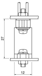 Schematic photo of TSF connector