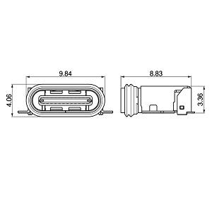 Schematic photo of UBC connector (Dustproof and waterproof type)