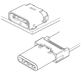 Schematic photo of UBC Connector
