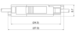Schematic photo of XAG connector (W to W)