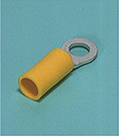 Close up image of Ring tongue terminal (R-type, Vinyl-insulated) (straight)