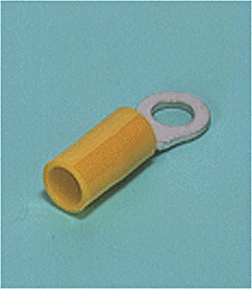 Close up image of Ring tongue terminal (R-type, Nylon-insulated) (straight)
