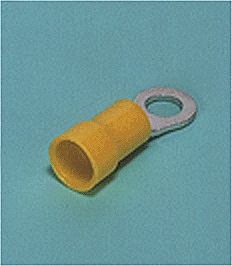 Close up image of Ring tongue terminal (R-type, Nylon-insulated) (flared)
