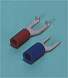 Close up image of Spade tongue terminal (A-type/B-type, Vinyl-insulated) (straight)