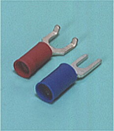 Close up image of Spade tongue terminal (A-type/B-type, Vinyl-insulated with copper sleeve) (straight)