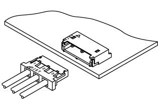 Schematic photo of BH connector (12.0mm pitch)