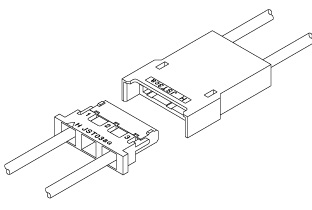 Schematic photo of BHM connector (4.0mm pitch, W to W)