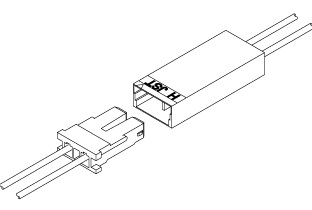 Schematic photo of BHS connector (W to W)