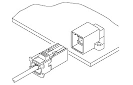 Schematic photo of CN Connector (W to B)