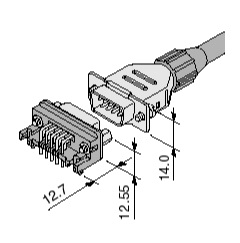 Schematic photo of Dsub Connector J series