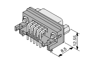 Schematic photo of Dsub Connector JH series