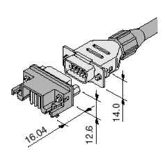 Schematic photo of Dsub Connector JK series