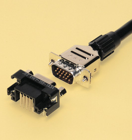 Close up image of Dsub Connector KH series