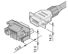 Schematic photo of Dsub Connector KH series