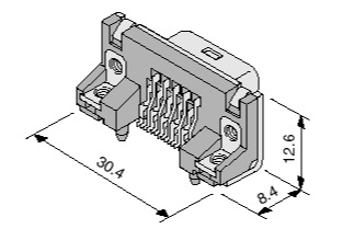 Schematic photo of Dsub Connector KS series
