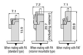 Schematic photo of PA Connector (High box type)