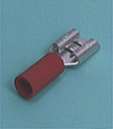 Close up image of DIN terminals/splices Insulated Disconnect Terminal
