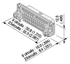 Schematic photo of Dsub Connector JS series