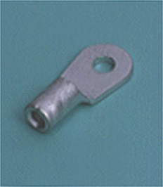 Close up image of DIN terminals/splices Ring tongue terminal, Non-insulated