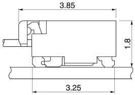 Schematic photo of FXS Connector
