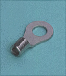 Close up image of Ring tongue terminal (R-type, Non-insulated/of nickel)