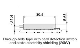 Schematic photo of SD connector