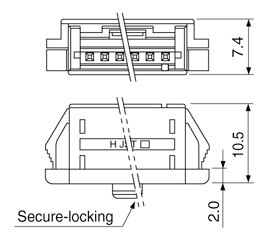 Schematic photo of TR/TRW Connector