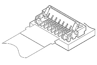 Schematic photo of FXV connector