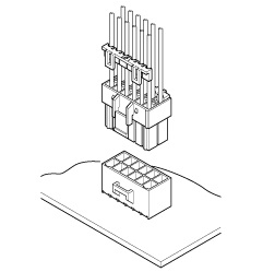 Schematic photo of HL Connector (W to B)