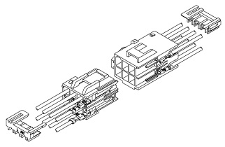 Schematic photo of HL connector (W to W)