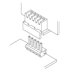 Schematic photo of HVQ Connector