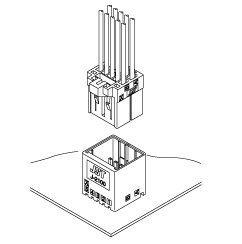 Schematic photo of JFA Connector J2000 series (W to B)