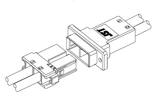 Schematic photo of JFA Connector J5000 series(W to W)