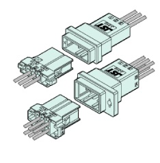 Schematic photo of JFA connector J300 series (W to W 3.81mm pitch)