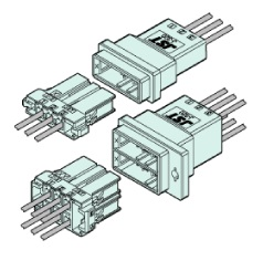Schematic photo of JFA connector J300 series  5.08 mm Pitch