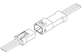 Schematic photo of JWPF connector (W to W)
