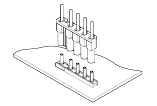 Schematic photo of LV Connector