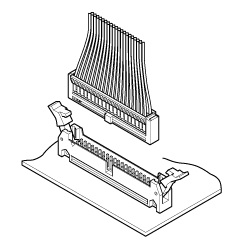 Schematic photo of RA Connector crimp style