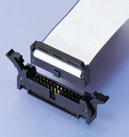 Close up image of RA Connector IDC type